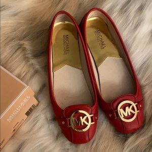 Michael Kors Fulton Moc size 7 in red